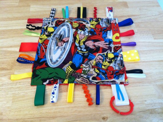 Marvel Comics Spider Man And Thor Tag Ribbon Sensory