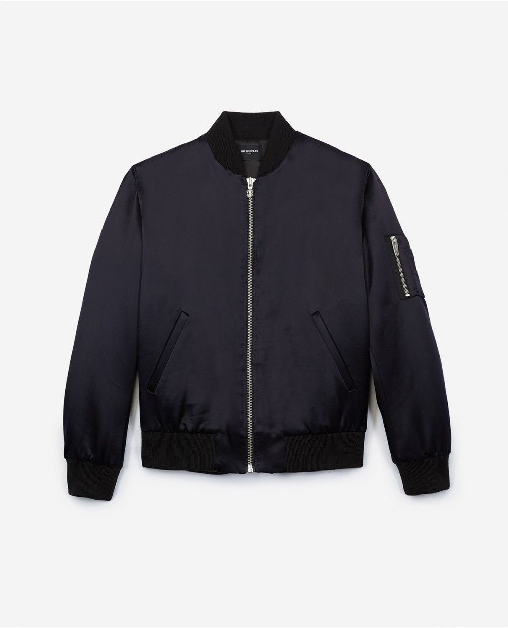 Satin Bomber Jacket With Spider Embroidery At The Back Satin Bomber Jacket Bomber Jacket Mens Clothing Lines [ 1244 x 1006 Pixel ]