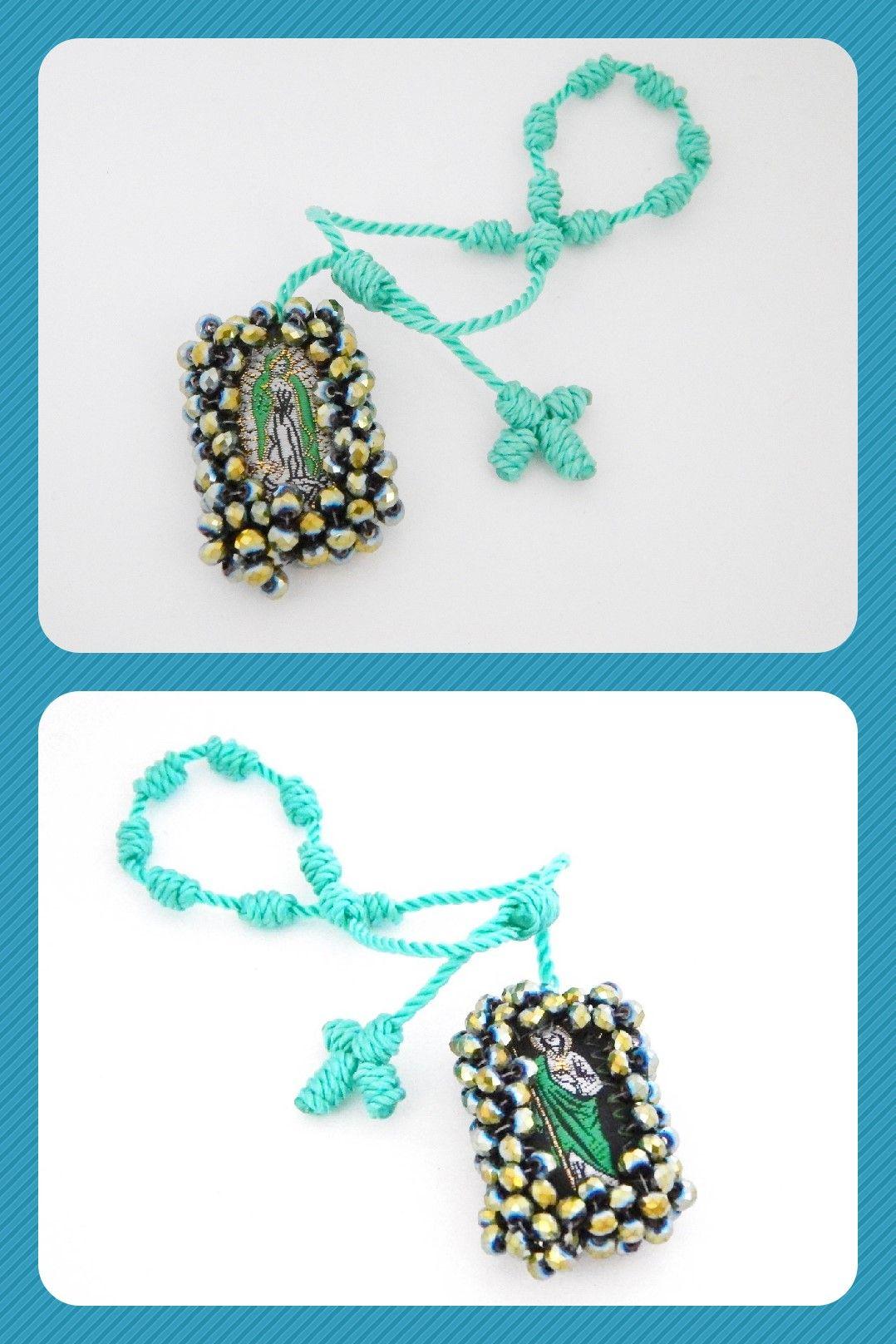 bc1c5ffc59e0 PE18 Hermosa pulsera con escapulario de san Judas Tadeo y la santisima  Virgen de Guadalupe