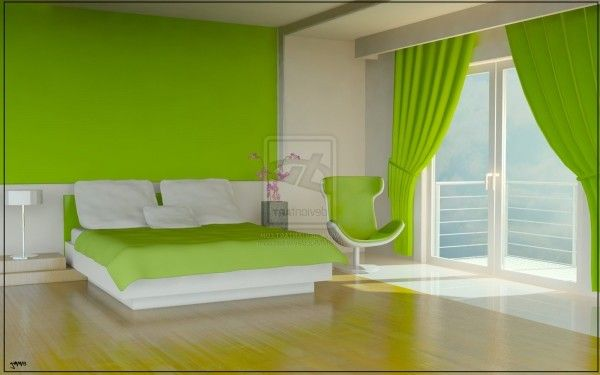 Comfortable And Remarkable Green Bedroom Color Scheme Ideas With ...