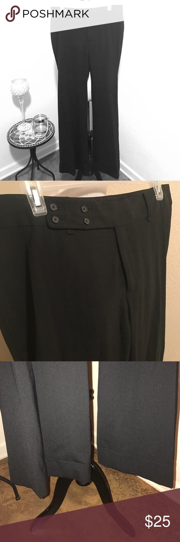 "Banana Republic black slacks! Stretch fit Banana Republic black slacks! Stretch fit. Barely worn, so like new! The fit is called ""Jackson Fit."" Size 12 Banana Republic Pants"
