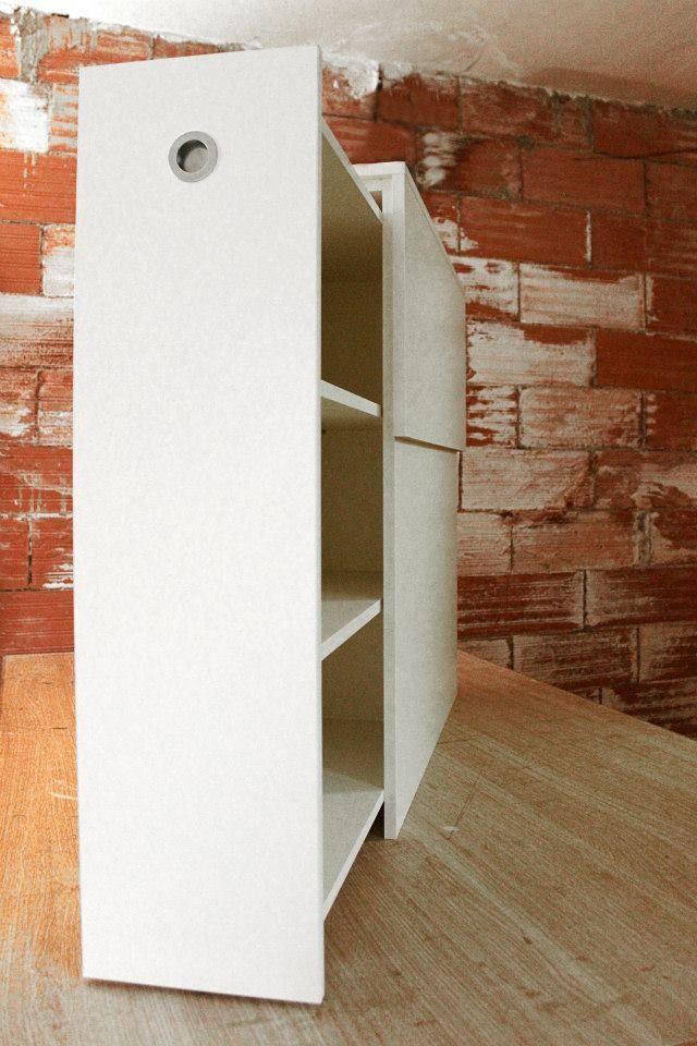 Cabecero cama individual con cajón extraíble y estantes ...