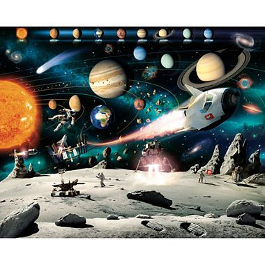 jcpenney.com | Walltastic Space Adventure Wall Mural | This looks like an incredible piece of astronomy / space artwork. It does have a premium price tag, but I do love it! There is just so much going on, I can see all manner of things happening. There's astronauts, a space rover, a comet and there seems to be most of the planets in the solar system. Surely an awesome gift for an astronomy fan with deeper pockets!