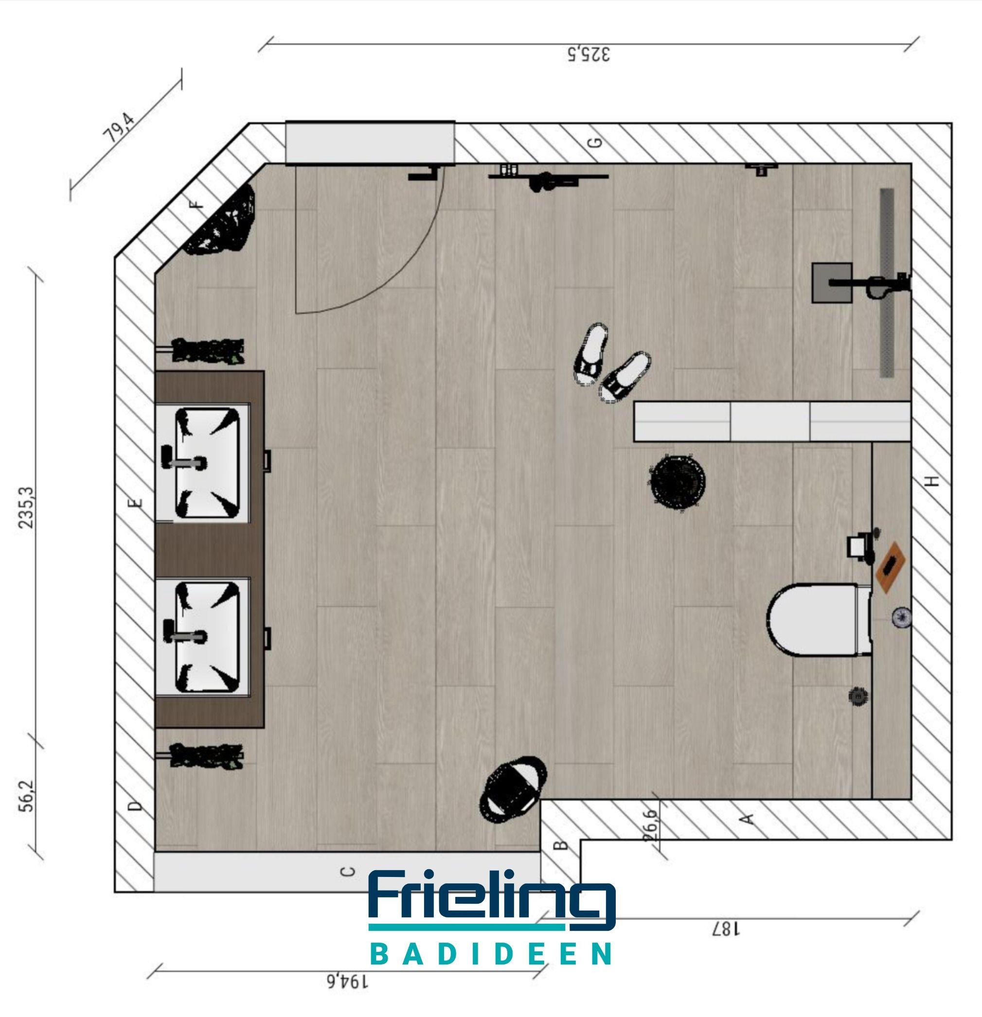 Familienbadezimmer Im Dachgeschoss Schragen Nischen Nutzen 13 Qm Modernes Bad Mit Viel Platz In 2020 Bad Mit Dachschrage Bad Badezimmer Grundriss