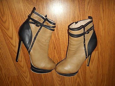 Alden Black With Gold Booties ShoeDazzle Just Size 7 M US Fab