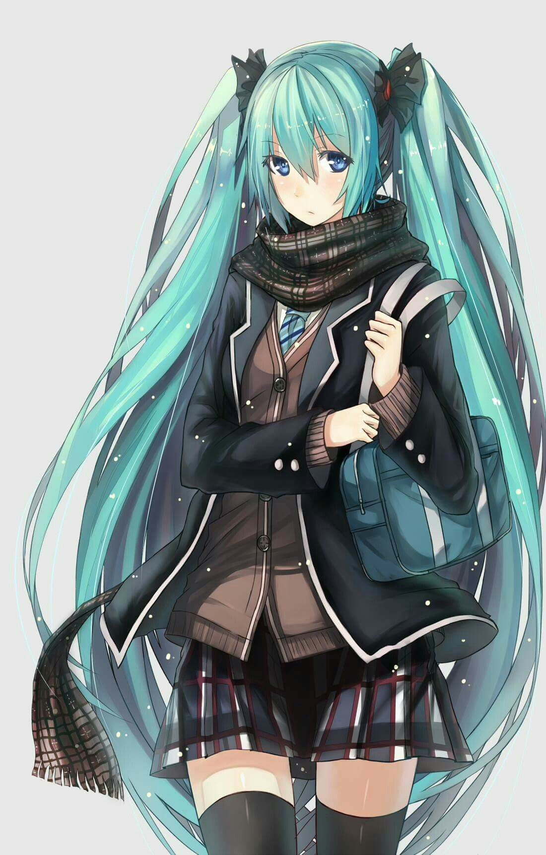 Hatsune Miku ღ school outfit | VOCALOID | Anime, Vocaloid ...  Hatsune Miku �...
