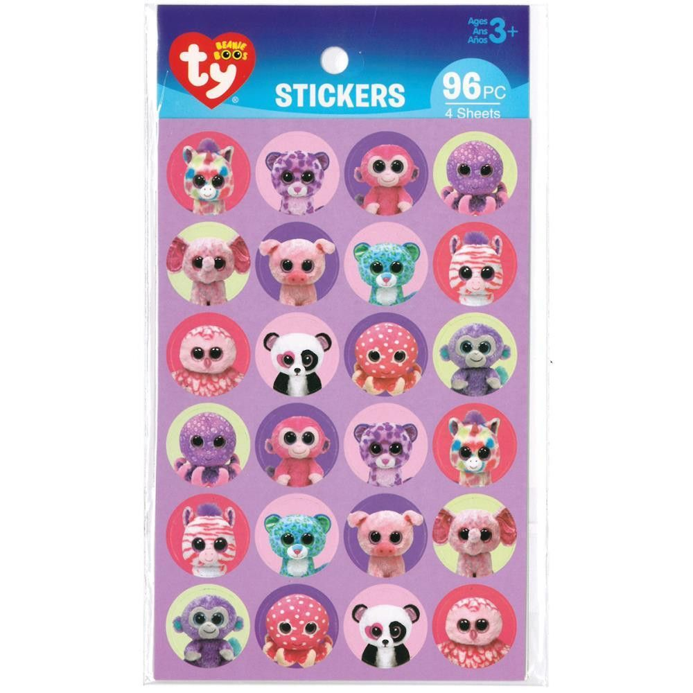 Beanie Boo Paper Stickers  Jungle. Darice Stickers give you another fun and  colorful way to add excitement to many of your craft projects. 8d8966d0536