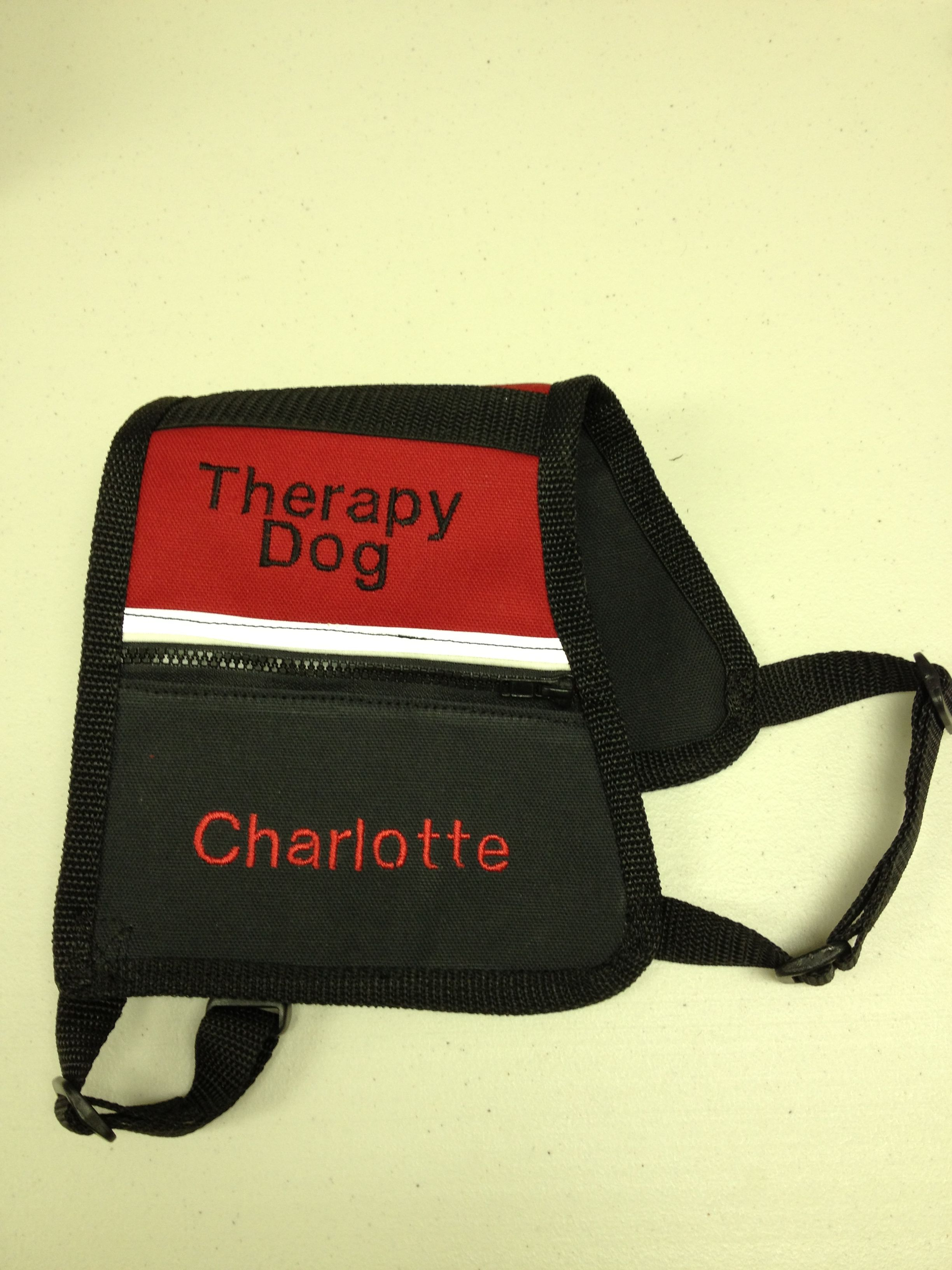 custom made vest by Michelle Therapy dogs, Dog vests, Dogs