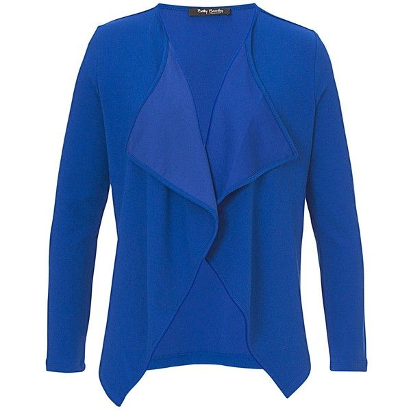 Betty Barclay Waterfall Cardigan, Electric Blue ($100) ❤ liked on ...