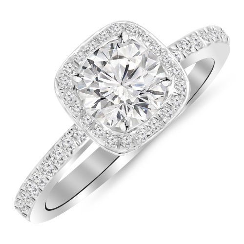 225 carat designer halo channel set round diamond engagement ring with milgrain with a 15 carat - Wedding Rings Under 1000