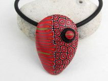Statment Kette, Kunst aus Polymer clay
