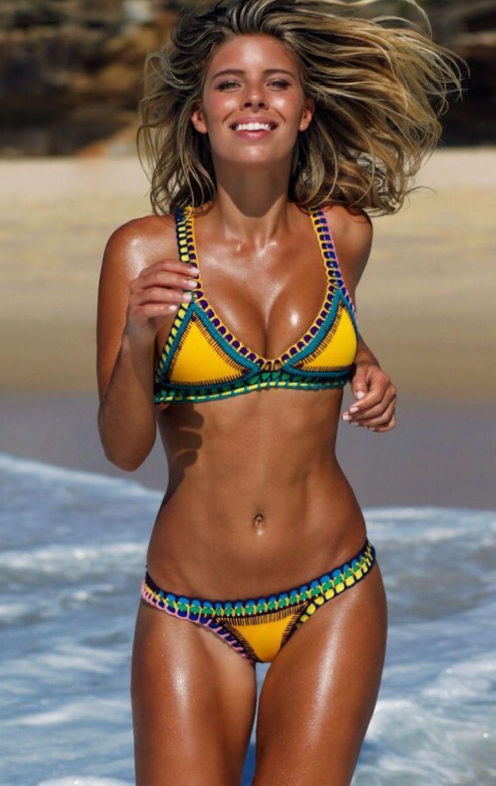 ef1b31ca4253a Neoprene crochet bikini purchased from Surin Beach shop Phuket Biquini  Neon