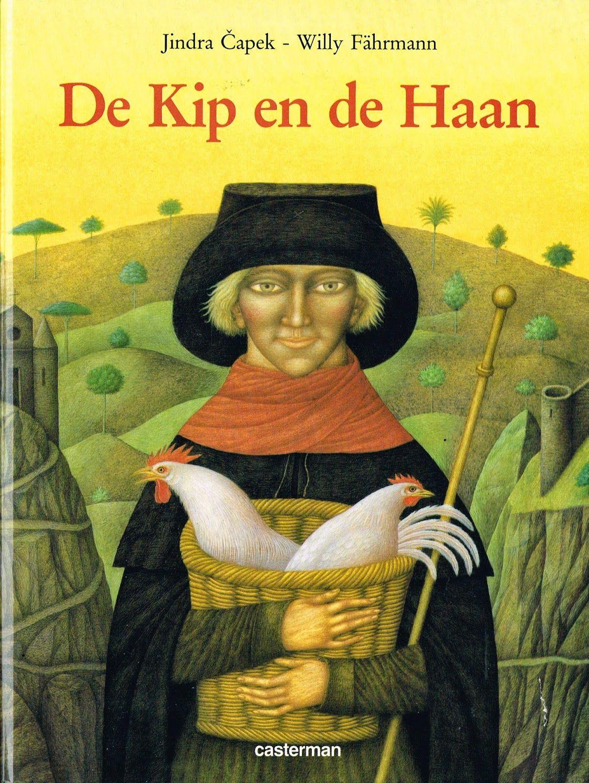 children's book illustrations: De kip en de haan/ Der Hahn im Korb