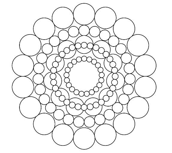 Circles mandala coloring page mandala coloring pages for Circle pattern coloring pages