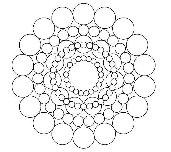 Circles Mandala Coloring Page Mandala coloring Adult coloring
