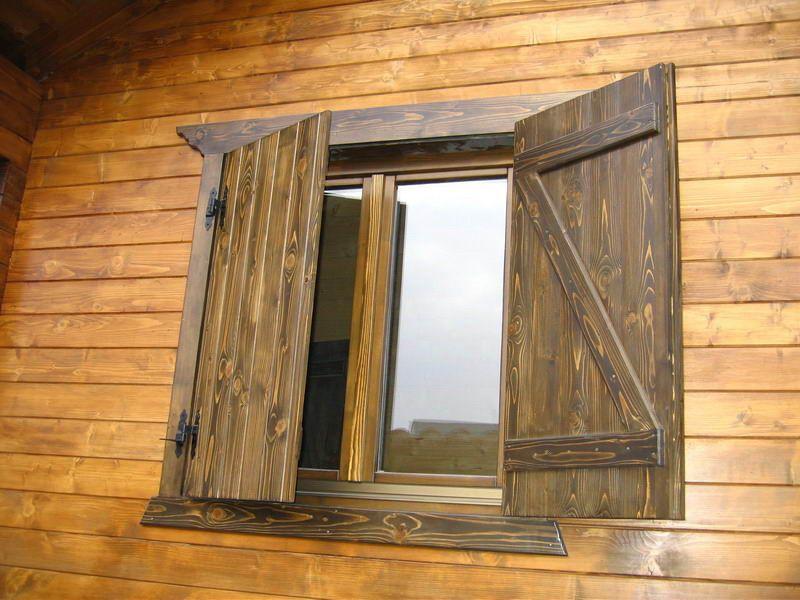 Ventana rustica con z integrada ventanas madera maciza - Hacer una ventana de madera ...