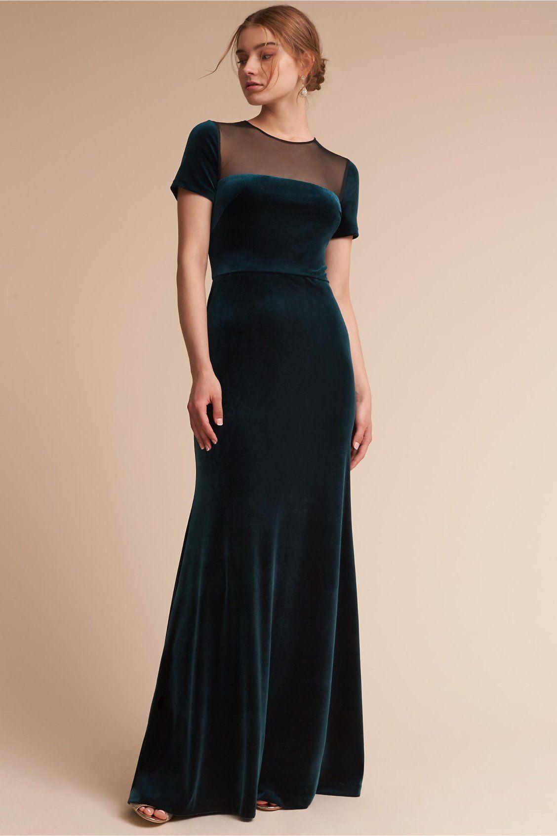 Velvet Pine Green Iryna Dress From Bhldn Mother Of The Bride Dresses Long Ball Dresses Ball Gown Wedding Dress [ 1694 x 1128 Pixel ]