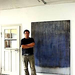 Christian Hetzel no seu ateliê