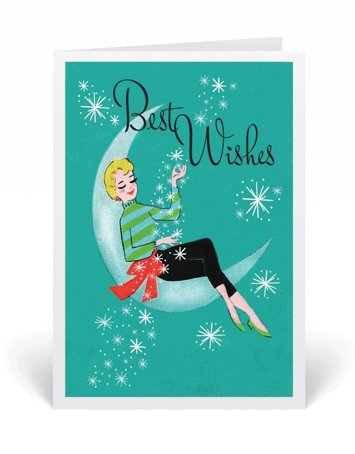 Retro Modern Vintage Christmas Card, 1950\'s holiday cards, retro ...