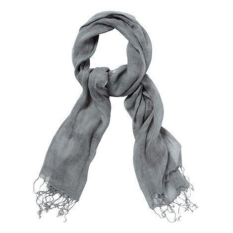 Grey linen scarf | Betty Jackson. Black, Designers at Debenhams