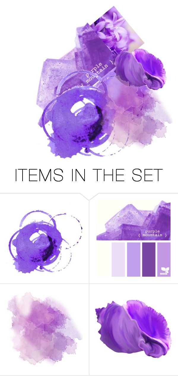 """Violet - Lilac - Purple"" by bambi-52 ❤ liked on Polyvore featuring art"