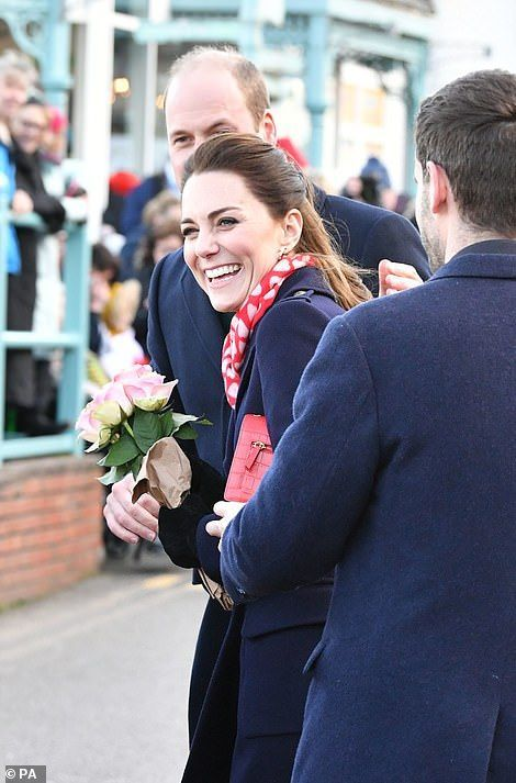 Kate Middleton and Prince William arrive in South Wales