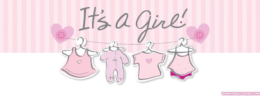 Girly Facebook Covers Category Pagecovers Com Baby Shower Facebook Its A Girl Banner Baby Shower Cupcake Toppers