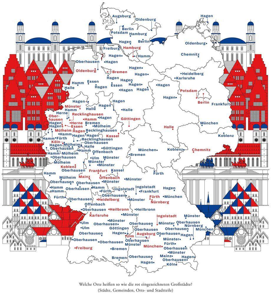 Deutschlandkarte Doppelganger Von Grossstadten Deutschlandkarte