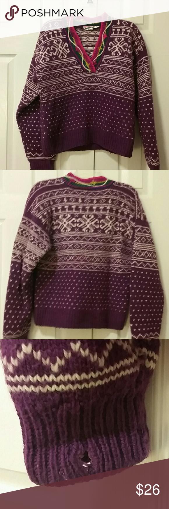 Obermeyer purple heavy wool ski sweater | Bright purple, Purple ...