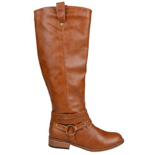Brinley Co Womens Mid-calf Riding Boots (9.5 Wide Calf, Chestnut)