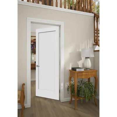 Reliabilt Shaker White 1 Panel Solid Core Wood Slab Door Common 30 In X 80 In Actual 30 In X 80 In Lowes Com Wood Slab Slab Door Rustic Doors