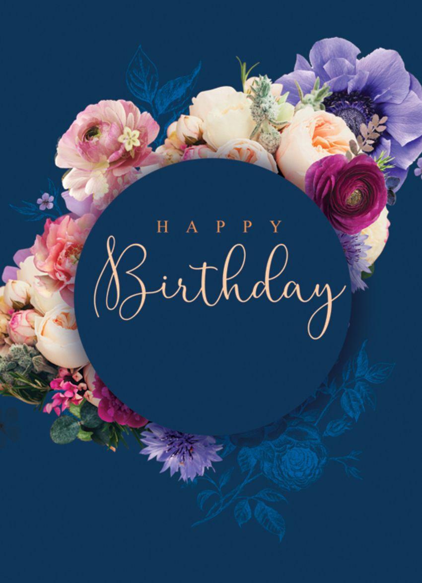 Ldfloral posy birthday midnight blueg happy birthday