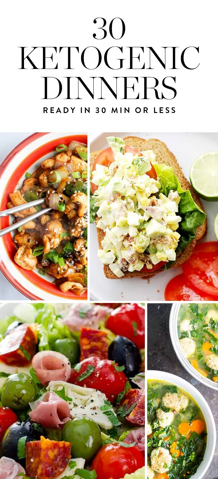 40 Ketogenic Dinner Recipes You Can Make in 30 Minutes or