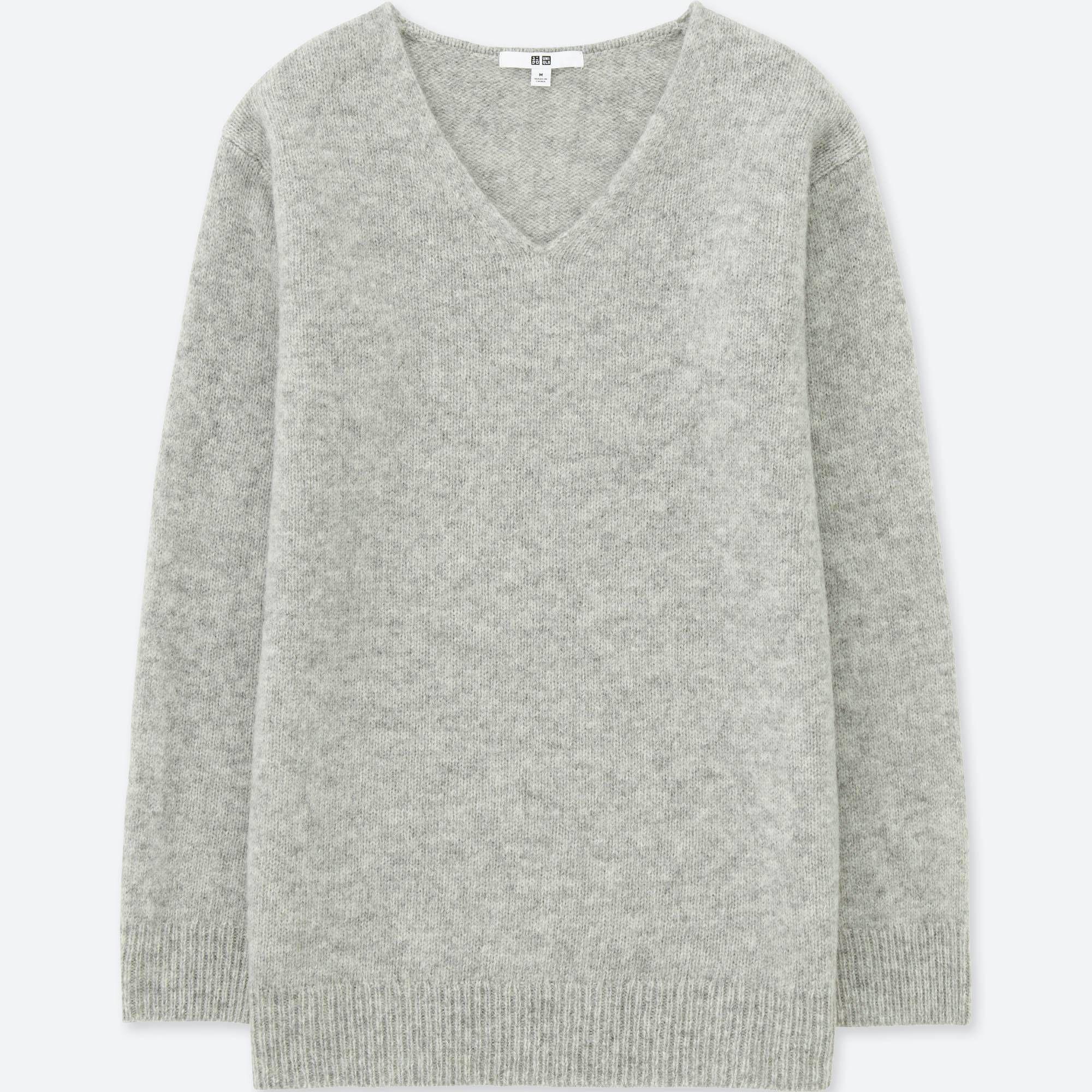 Women melange wool tunic   Uniqlo, Wool sweaters and Tunics