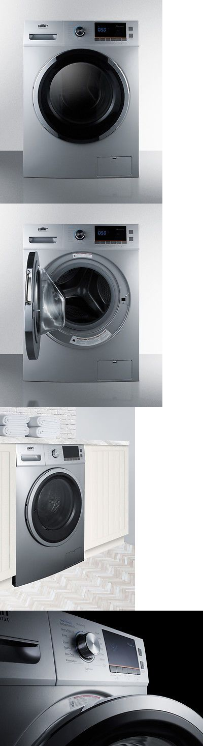 Washer Dryer Combinations And Sets 71257 Summit Spwd2201ss 2 Cu Ft 24 Combo Washer Dryer Ventles Washer Dryer Combo Washer And Dryer Combination Washer Dryer