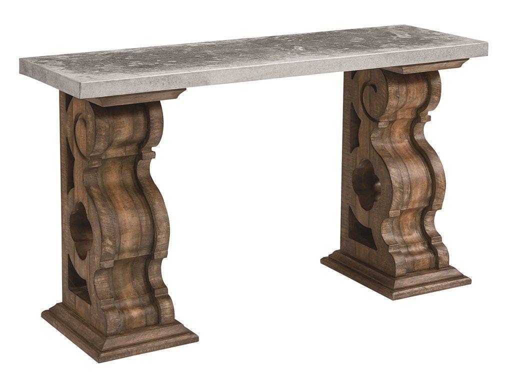 Magnolia Home Living Room Double Pedestal Console Table 052002   Furniture  Fair   Cincinnati U0026 Dayton OH And Northern KY