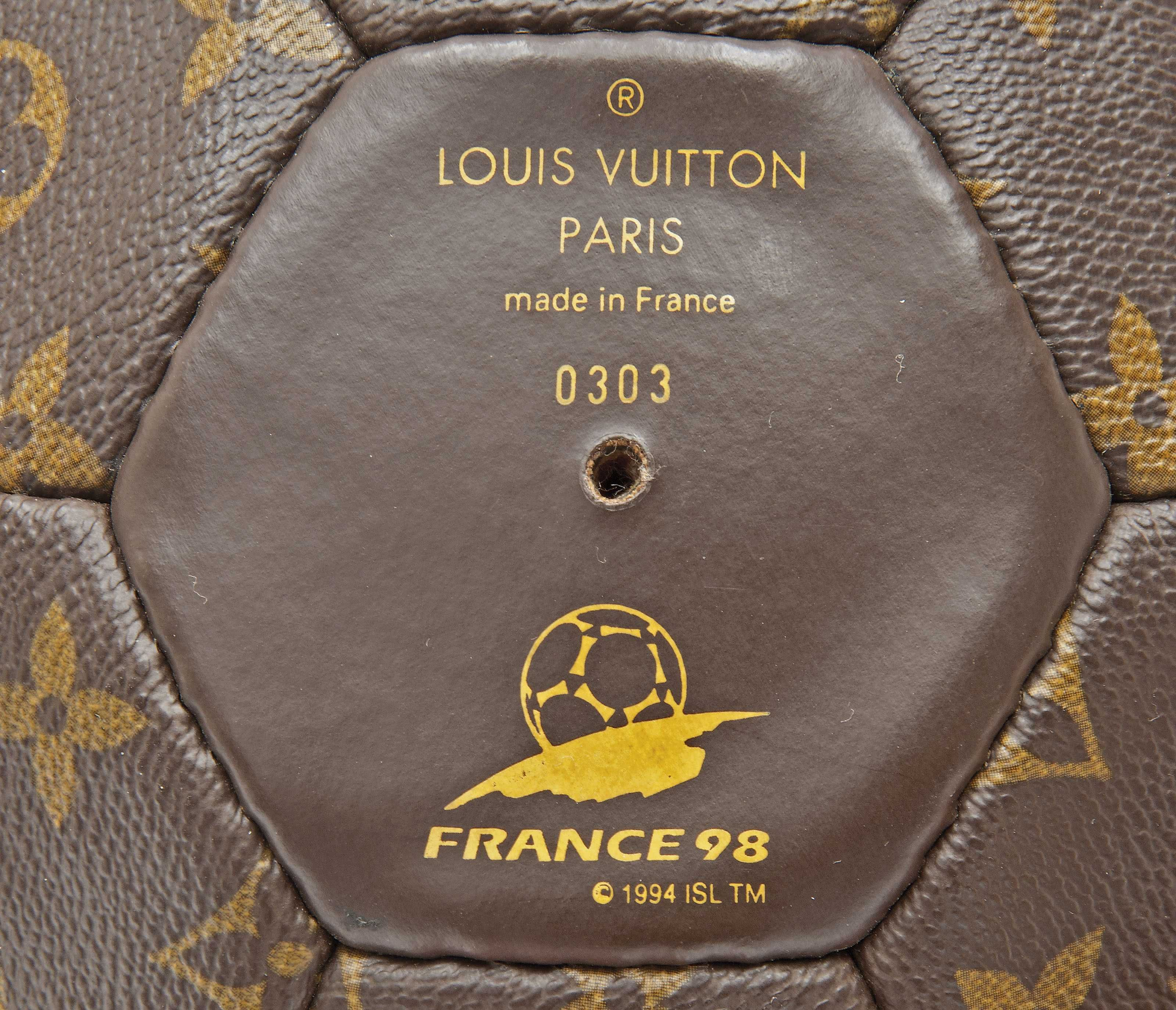f6c8e35c426 A LIMITED EDTION MONOGRAM CANVAS FRANCE WORLD CUP FOOTBALL Christie s  Vintage Couture  Handbags and Accessories