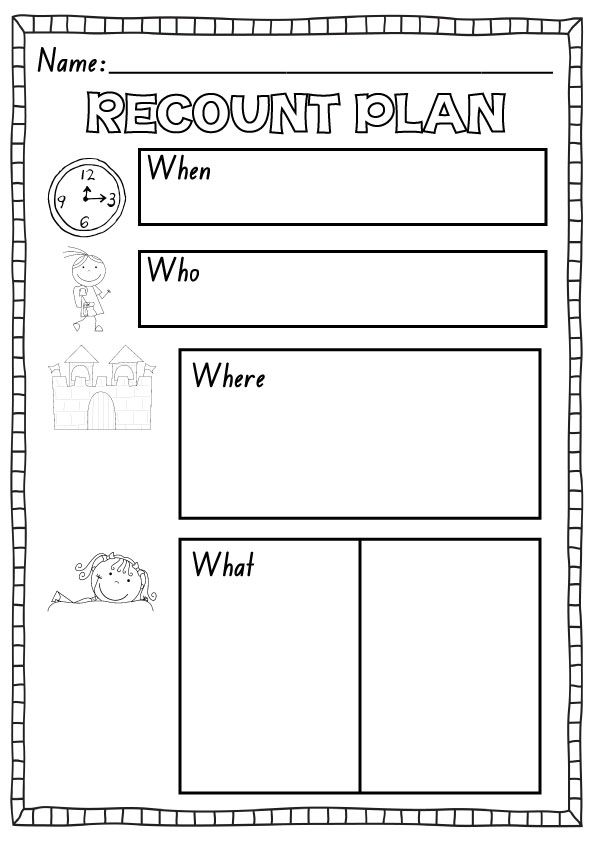 Recount Plan Freebie  KindergartenklubCom    Writing