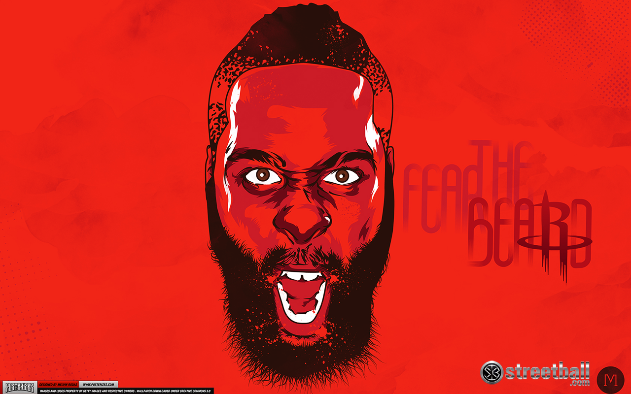 James Harden Houston Rockets HD Basketball Wallpaper on