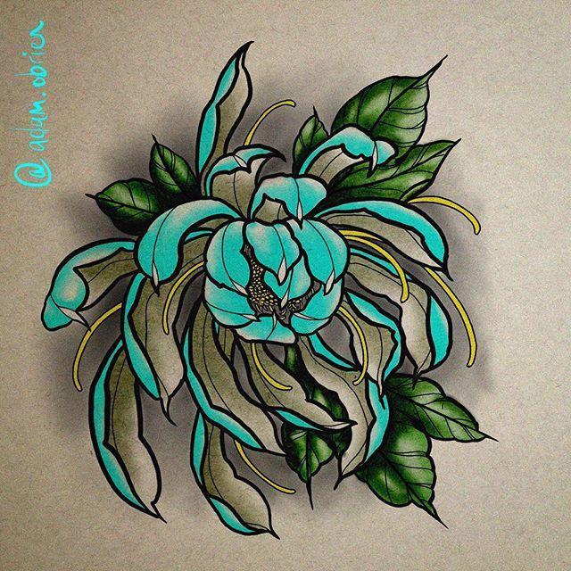 Chrysanthemum Design Adamobrien Art Japanese Tattoo Art Japanese Flower Tattoo Japanese Tattoo