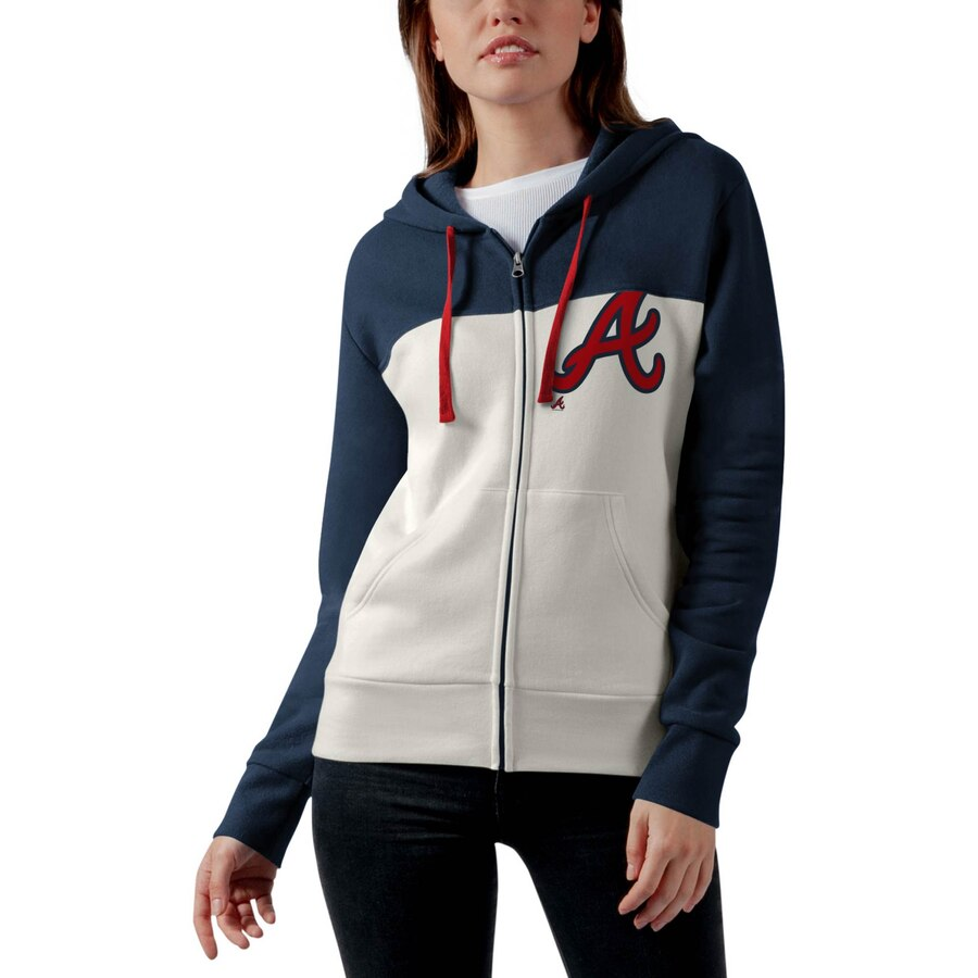 Spring 2020 Teamtouch Atlanta Braves Touch By Alyssa Milano Women S Conference Full Zip Hoodie Oatmeal N In 2020 Full Zip Hoodie Gameday Outfit Womens Conference