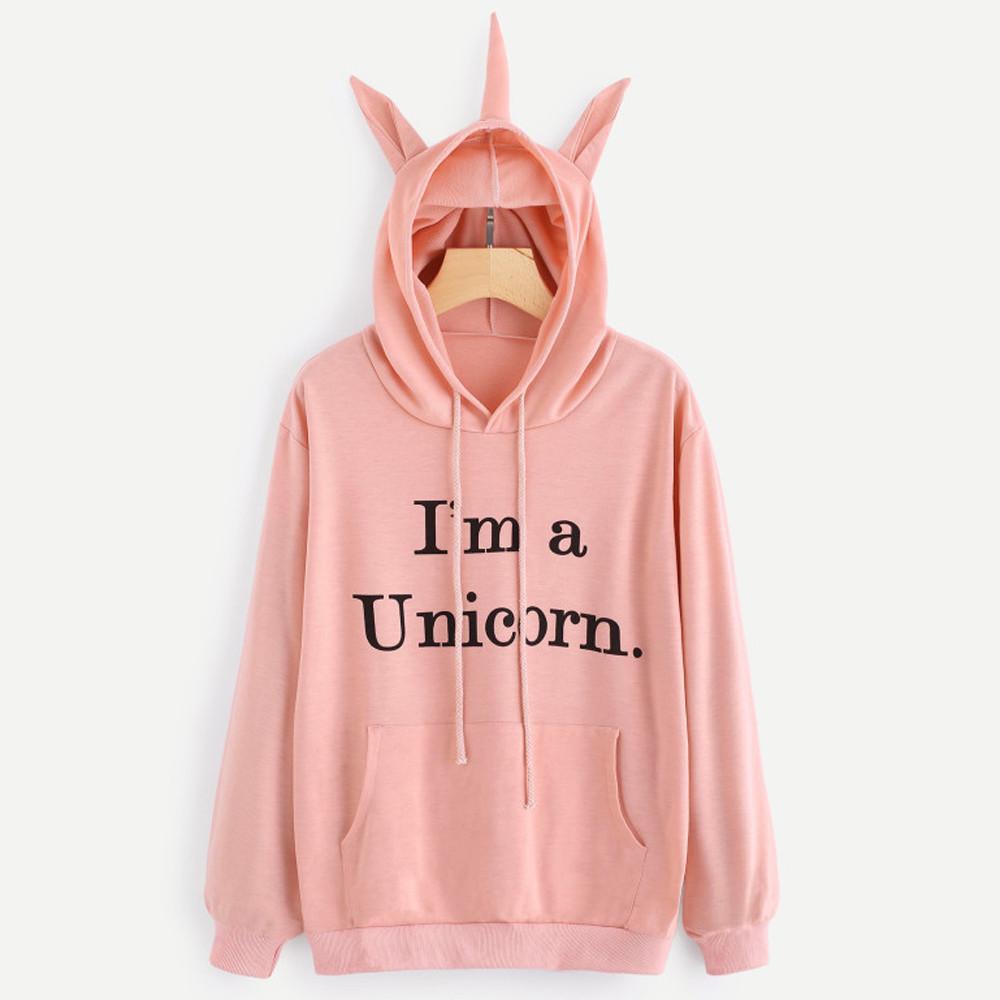 a6f29877d513f Sweat à capuche Femme  I m a Unicorn