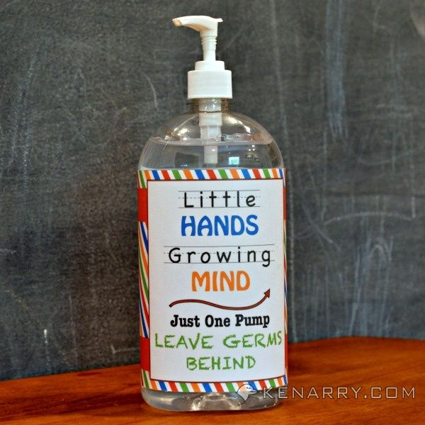 Hand Sanitizer Printable Back To School Ideas And Giveaway Hand