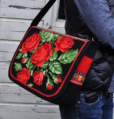 Red rose messengerbag by dutch-colours