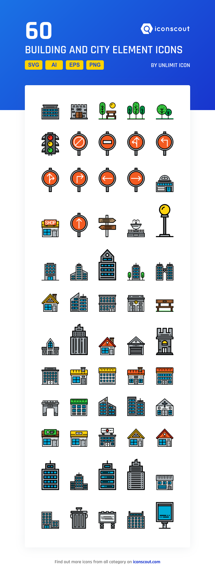 Download Building And City Element Icon Pack Available In Svg Png Eps Ai Icon Fonts Icon Pack Icon Icon Font