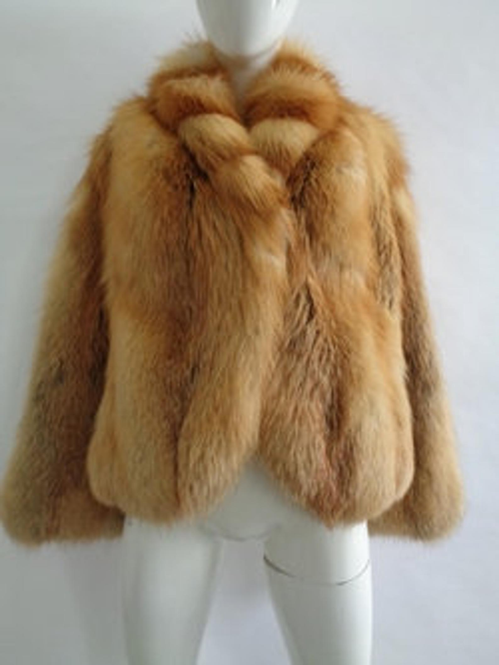 Showroom New Natural Red Fox Fur Coat Jacket Women Woman Size Etsy Fur Coats Women Fur Coat Fox Fur Coat