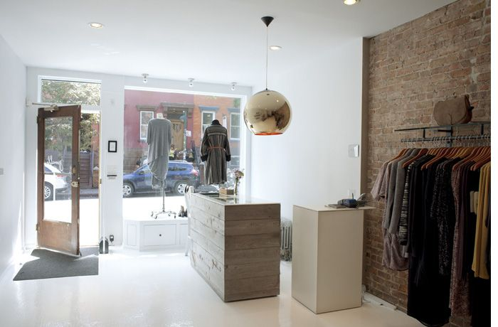 Simple but stylish boutique interior design for Jumelle due to the ...