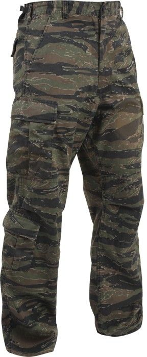 Tiger Stripe Camouflage Vintage Military Paratrooper BDU Pants ... 1a0daacd7c9