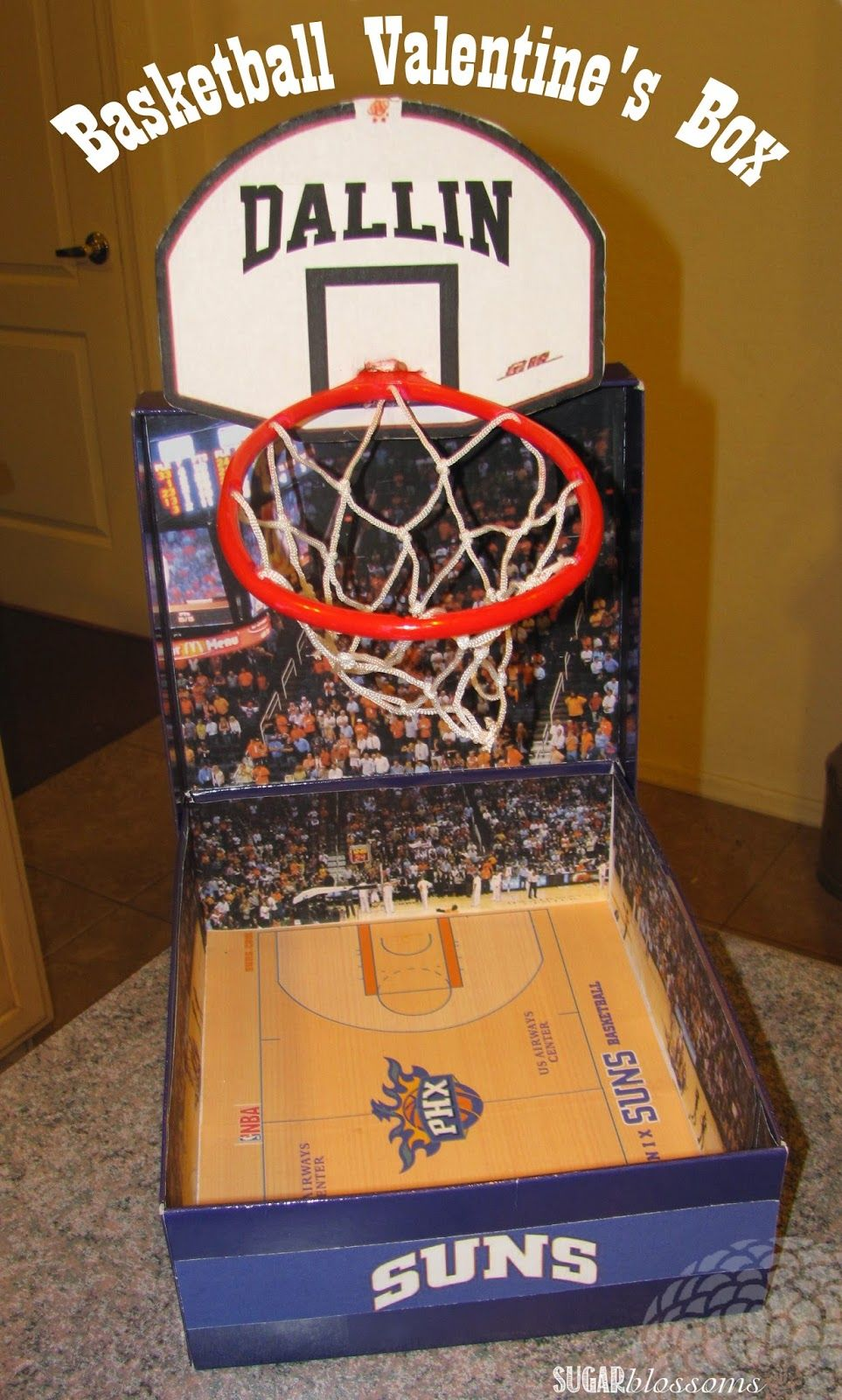 this basketball themed valentines box is so easy to make its even easier than the - Boys Valentine Boxes