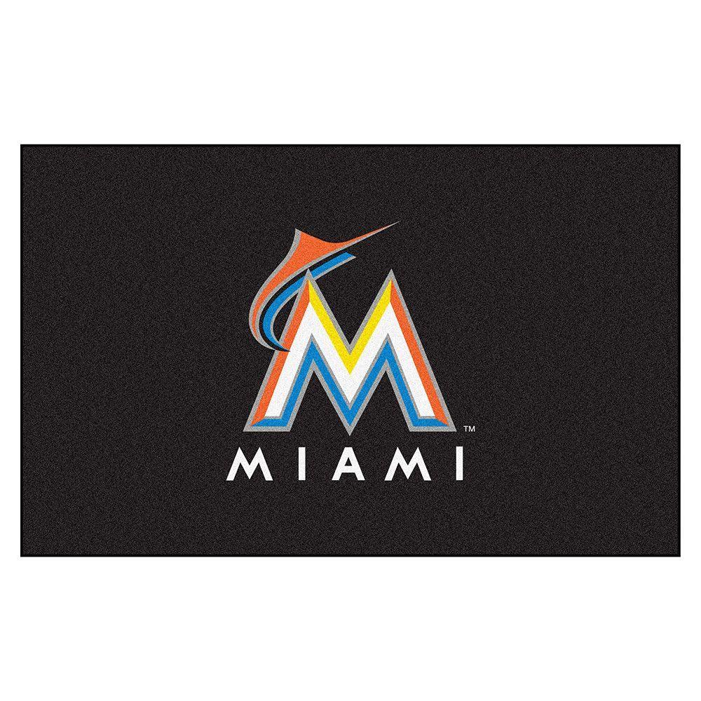 Miami Marlins MLB Ulti-Mat Floor Mat (5x8')